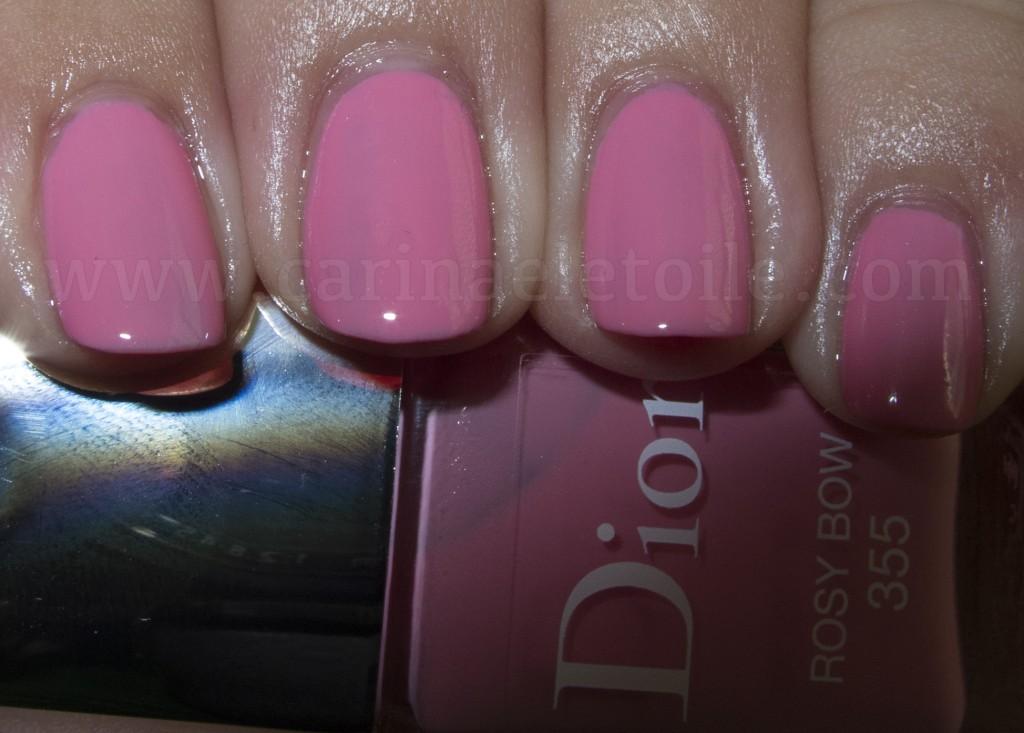 Dior Cherie Bow nail polish - Rosy Bow