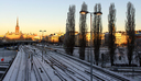 Railway and Winter Light