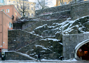 Steep Steps with Snow